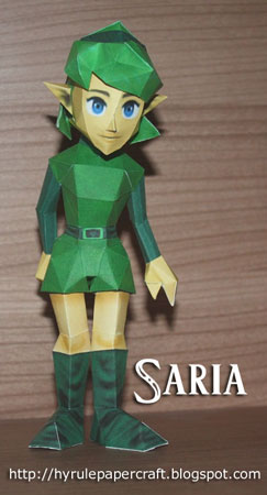Ocarina of Time Saria Papercraft v2