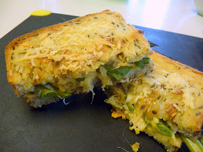 Asparagus and Cheese Sandwich
