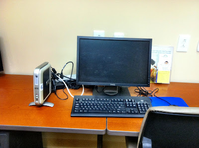 dell, desk business, center, chair, router