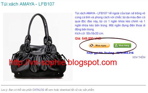 Hướng dẫn mua hàng trực tuyến tại vn-sophie blog