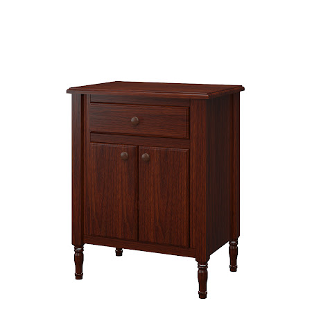 Farmhouse Nightstand with Doors, in Jefferson Walnut