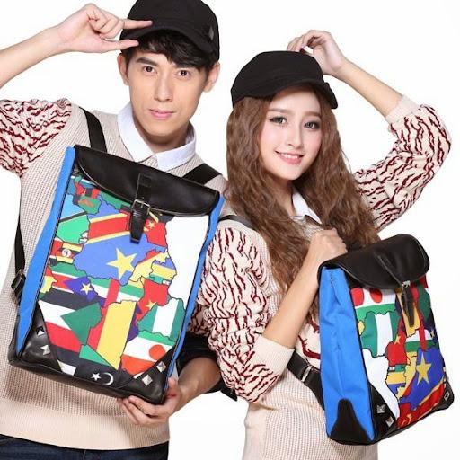 Unisex Mochilas Backpacks Korean Printing Backpack Wome