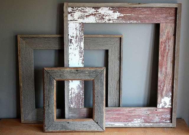 Barnwood frame set available for rent from www.momentarilyyours.com, $2.00 for small, $4.00 for medium, $6.00 for large, or $10.00 for set.