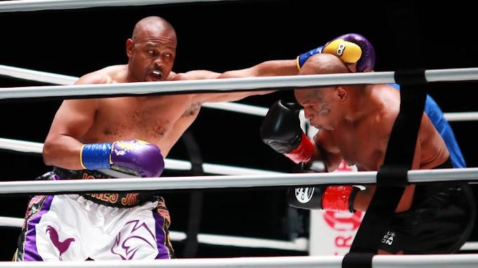 Майк Тайсон и Рой Джонс завершили показательный бой вничью