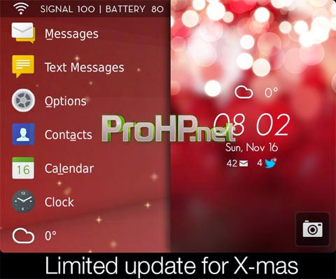 Awesome Thing for X-mas Theme for BlackBerry 2