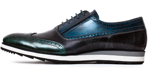 Tailoring Shoes in Petrol Blue and Petrol Green by Cohibas