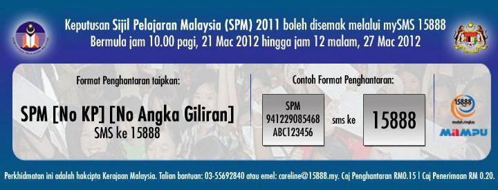 Semakan Online Dan Sms Keputusan Spm 2011 2012
