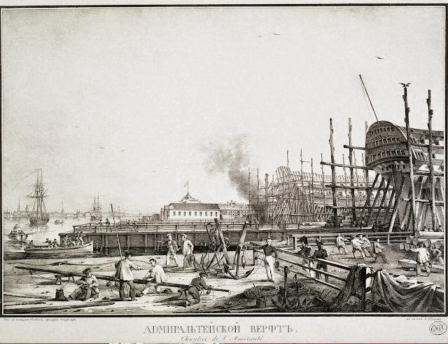 Admiralty Shipyard by Karl Petrovich Beggrov