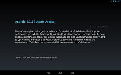 Android 4.2.2 システムアップデート
