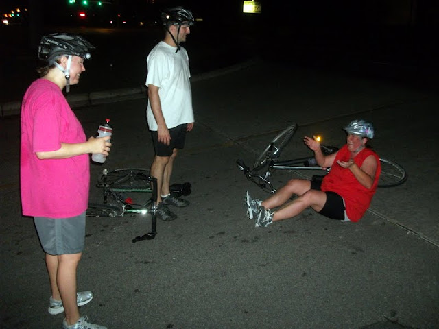 Michelle's crash at the Tour de Jeff