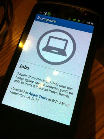 Jobs Badge in Foursquare
