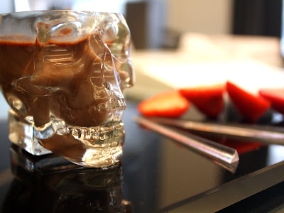 Chocolate filled skull in London