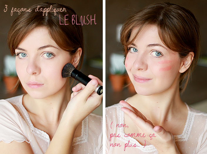 appliquer le blush, comment poser son blush, se maquiller selon la forme du visage, technique de maquillage, tutoriel makeup