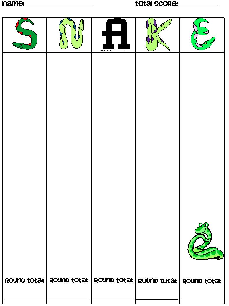Guided Math: SNAKE - A Whole Class Dice Game