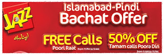 Jazz Islamabad – Pindi Bachat Offer