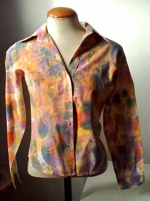 customização - tingimento de camisa feminina