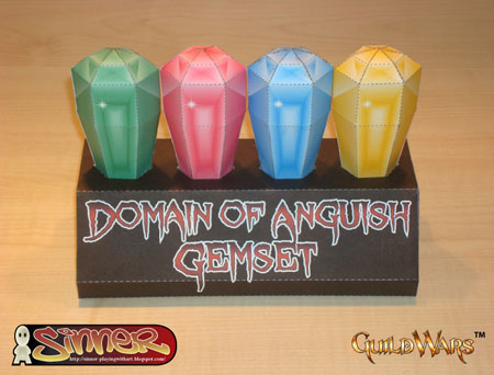Domain of Anguish Gemset Papercraft