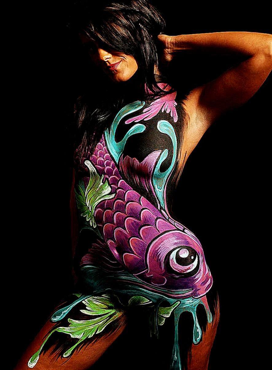 Koi Tia Adams body painting