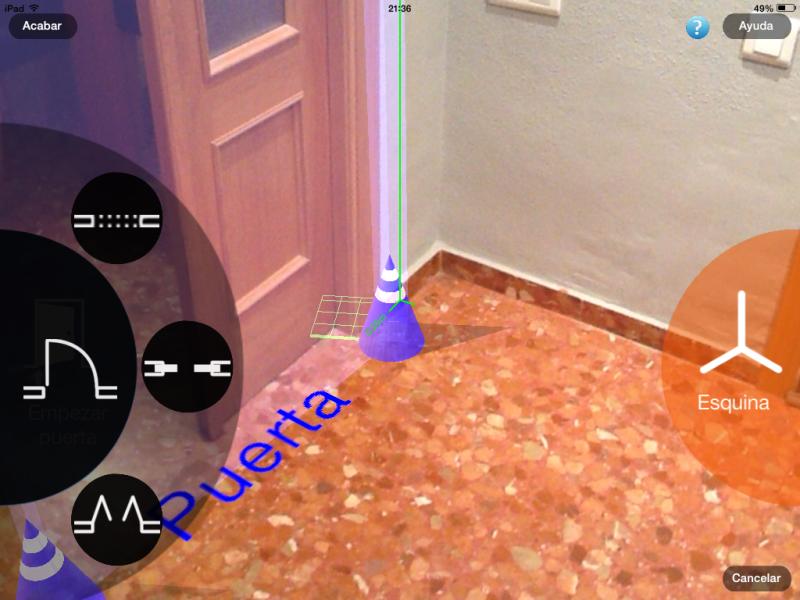 Apps de Construcción | Ubicar puertas en la estancia con MagicPlan