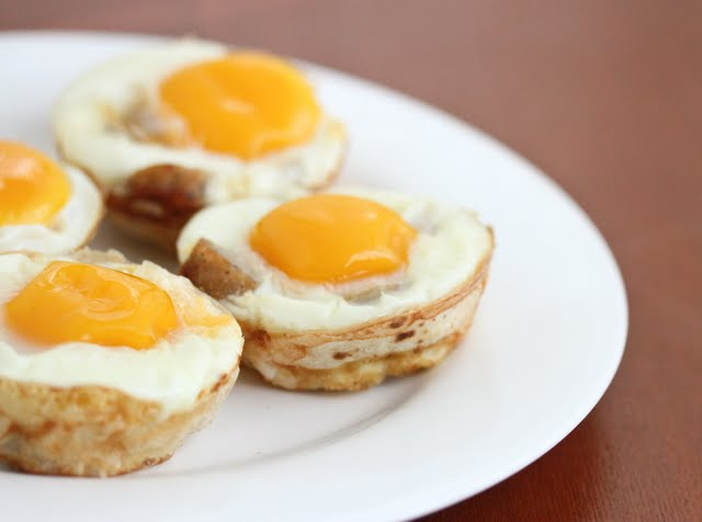 close-up photo of Breakfast Burrito Cups