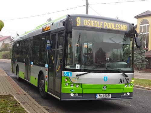 Autobus LNG na ulicy Olsztyna