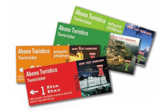 Abono Transporte Turístico para viajar 1, 2, 3, 5 o 7 días por toda la Comunidad de Madrid