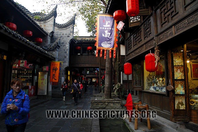 Chengdu Jinli Ancient Street Autumn Photo