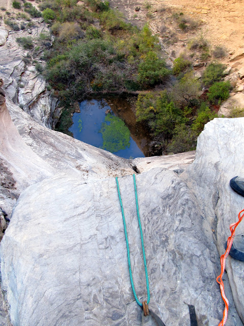 Rope hanging over the drop