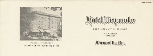 I Have A Postcard And Stationery From The Best Hotel Within 50 Miles In Farmville Virginia It Doesn T Seem To Exist Anymore But Don Think Burned