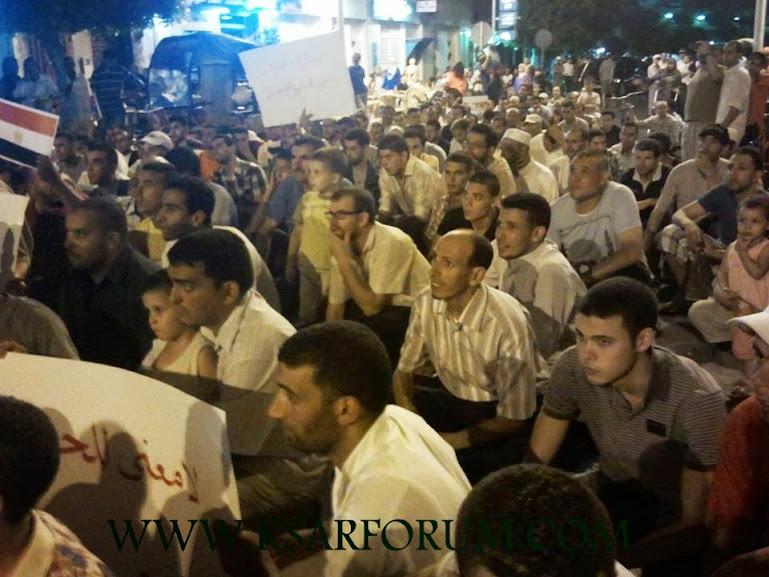 القصر الكبير : قوى سياسية و جمعوية تتضامن مع ضحايا المجازر في مصر