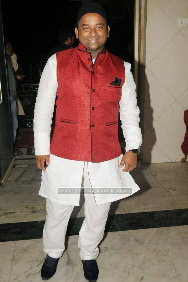Firoz during the iftaar party, in Hyderabad.