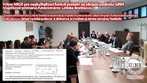 Výbor pre nezlučiteľnosť funkcií NRSR prešetrí podnet GINN proti vedeniu letiska Bratislava