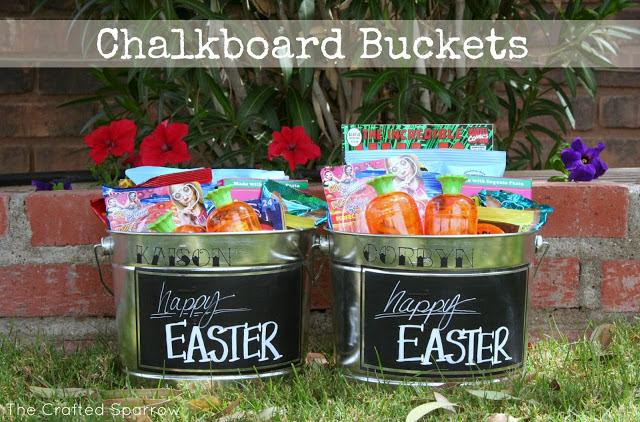 Chalkboard Buckets
