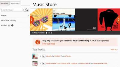 Rhythmbox se queda oficialmente sin plug in de Ubuntu One Music Store