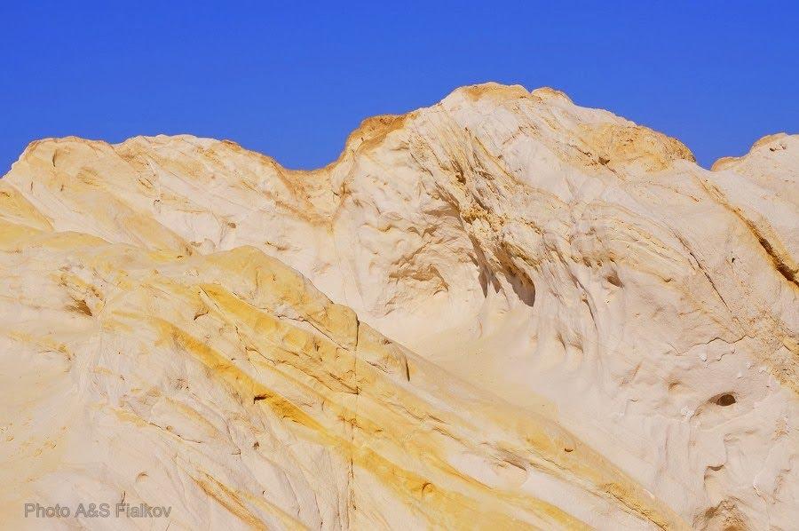 Экскурсия в пустыню Негев, цветные пески, белые и желтые.