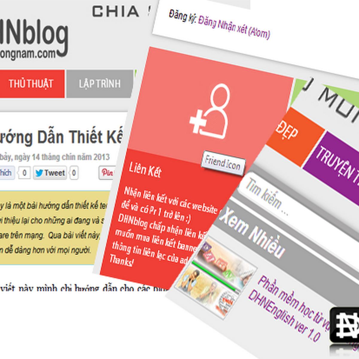 Hướng Dẫn Thiết Kế Template Blogger