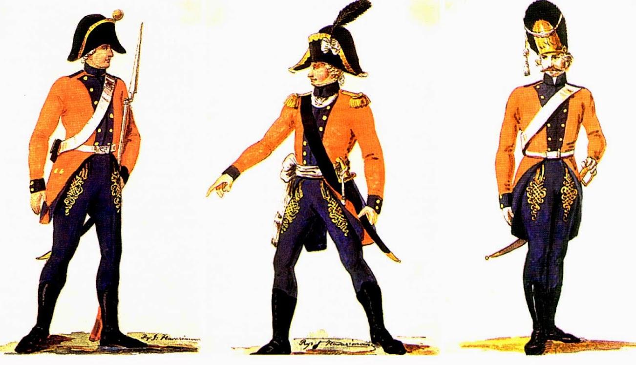 Литовские гвардейцы в 1792 году