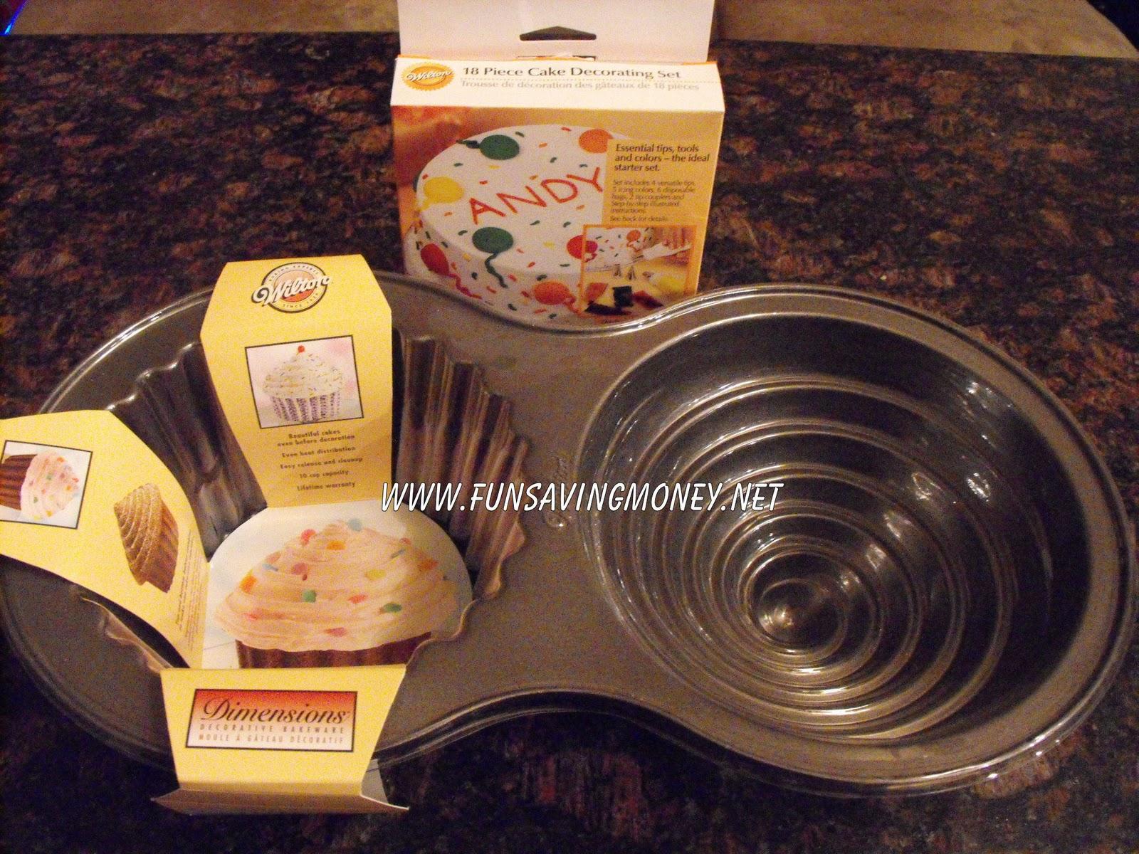 Big Birthday Bash Wilton Dimensions Giant Cupcake Pan And