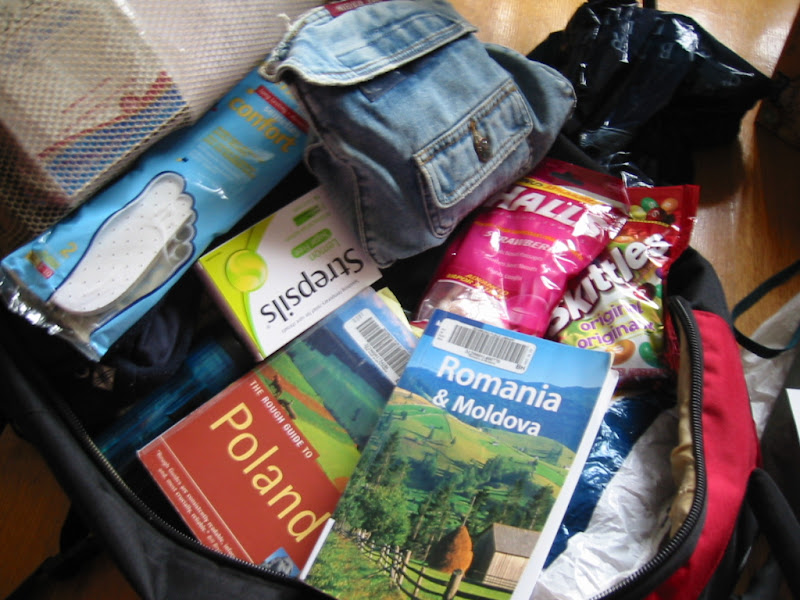 Packed travel guide books borrowed from library