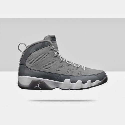 300f77d81674 Mens Nike Air Jordan 9 Retro Basketball Shoes Medium Grey   White   Cool  Grey 302370-015 Size 11.5