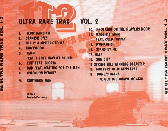 U2 - Ultra Rare Trax Vol 1, 2 & 3 (CD & Covers) - Guitars101
