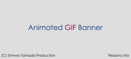 Animated GIF Banner Photoshop