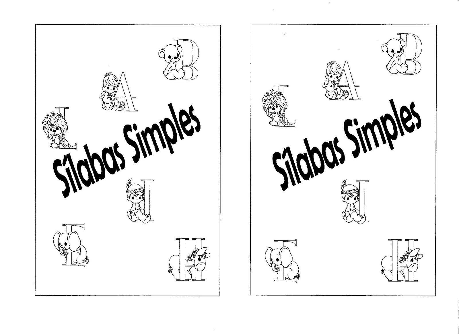 Conhecido A Magia do Aprender/Ensinar: Ficha de leitura com as silabas simples. KZ34