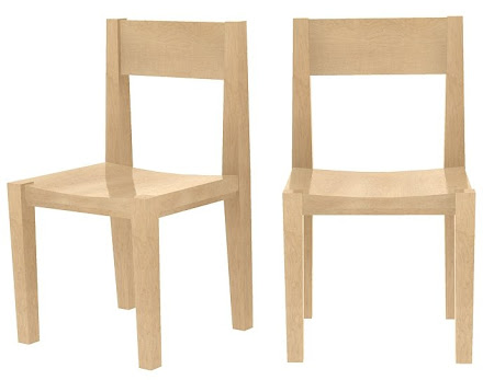 Modern Delton Dining Chair in   Hard Maple