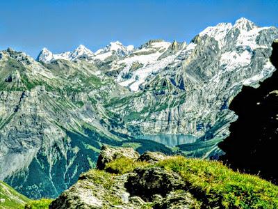Adelboden Bonderspitz Blick Öschinensee Eiger Mönch Jungfrau Berner Oberland Schweiz