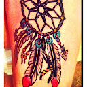 dreamcatcher tattoos on thigh 6