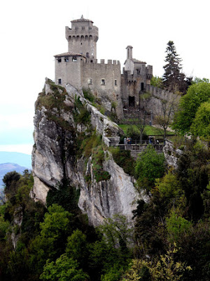 Hilltop tower fortification in San Marino
