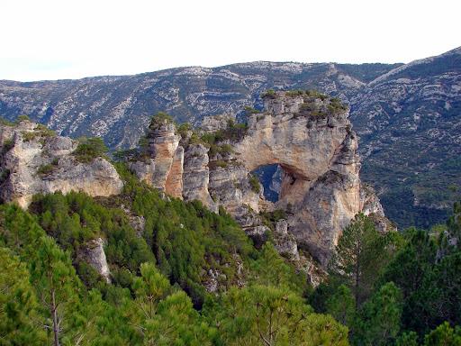 Senderismo: Area de la Fou - Cova dels Angels - Cova Roja - Pont Foradat