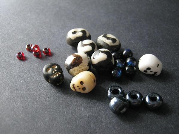 Halloween Skulls and Roses Bead Palette
