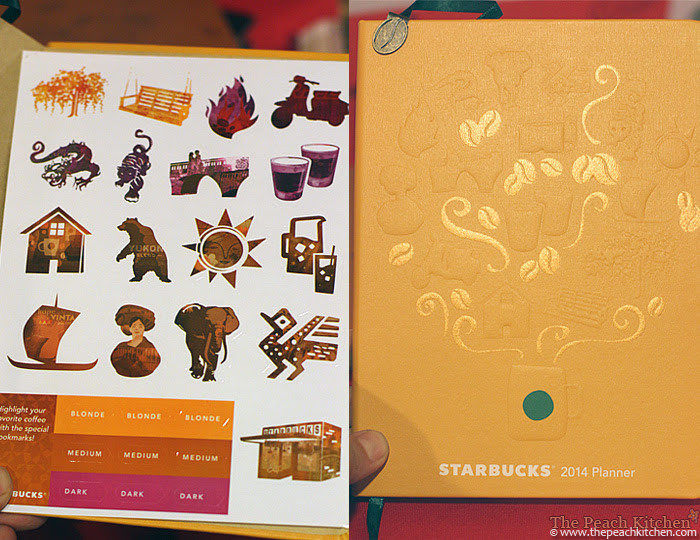 Starbucks Planner 2014 and Coffee Icon Bookmarks | www.thepeachkitchen.com